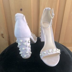 By The Way Blush Pearl Heels. Bride or Bridesmaid